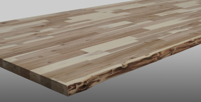 Picture of Acacia Worktop Unfinished with Live Edge (WT-LE-18)