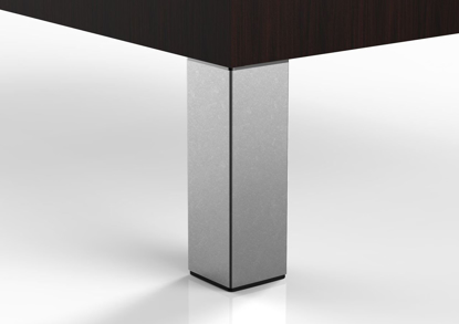 """Picture of Peter Meier 6"""" Square Furniture Leg in Grey (556-15-71)"""