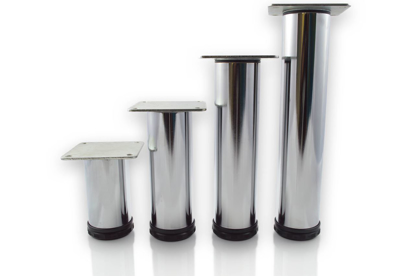 """Picture of Peter Meier 6"""" Tall Como Furniture Legs in Como Polished Chrome (552-15-C1)"""