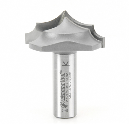 Picture of 49574 Carbide Tipped Plunge Ovolo with Center Pt 19/32 Radius x 1-5/8 Dia x 23/32 x 1/2 Inch Shank