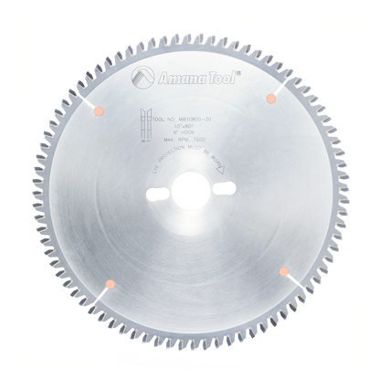 Picture of MB10800-30 Carbide Tipped Double-Face Melamine 10 Inch Dia x 80T H-ATB, -6 Deg, 30mm Bore