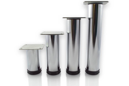 """Picture of Peter Meier 4"""" Tall Como Furniture Legs in Como Polished Chrome (552-10-C1)"""