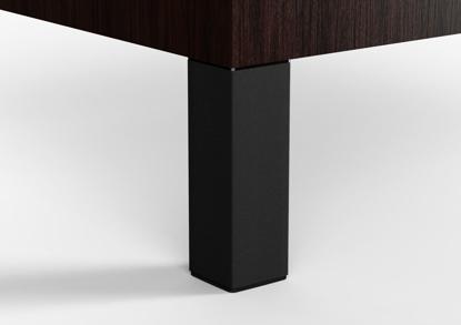 "Picture of Peter Meier 6"" Square Furniture Leg in Black Matte (556-15-19)"