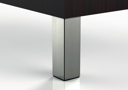 """Picture of Peter Meier 6"""" Square Furniture Leg in Brushed Steel (556-15-ST)"""