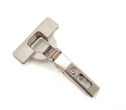 """Picture of Salice 1/2"""" Overlay Self Close 110° Opening Angle in Nickel"""