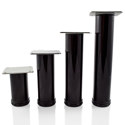 """Picture of Peter Meier 4"""" Tall Como Furniture Legs in Como Black Glossy (552-10-02)"""